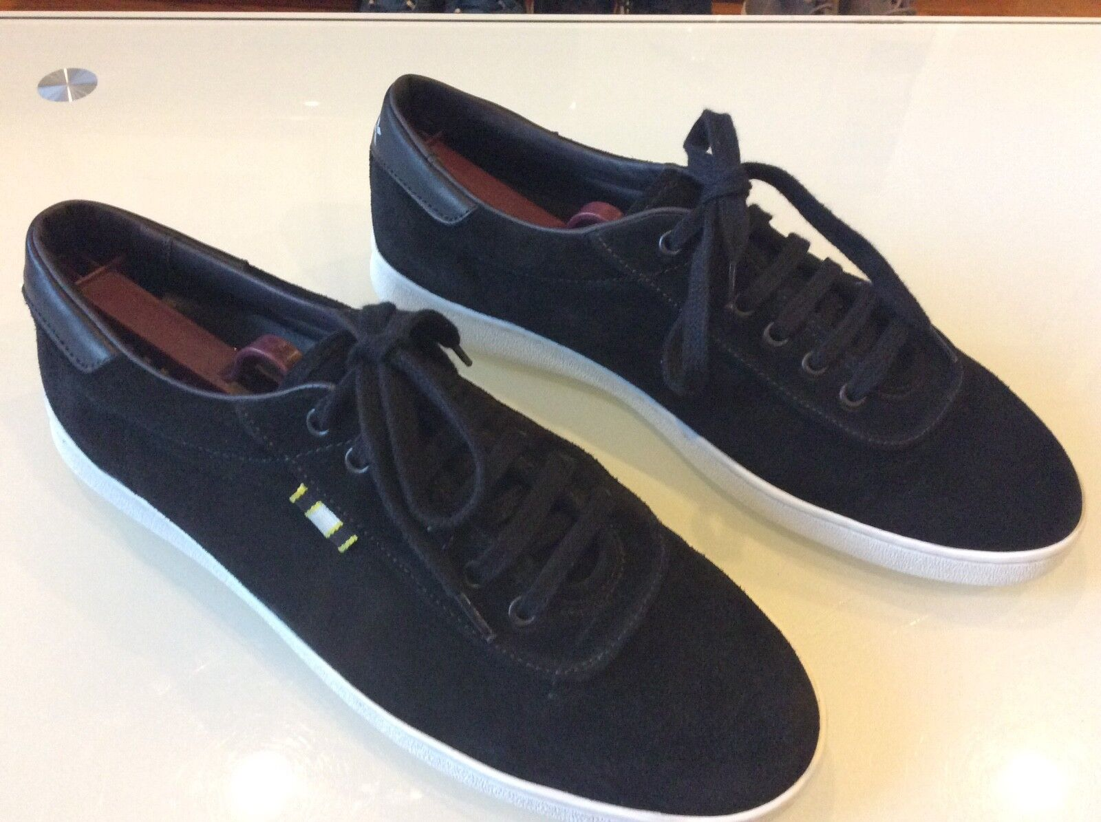 Aprix Men's Black Suede low tops Sneakers size 43  9US  74.00