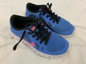 605fe37aca NIKE FREE 5.0 KIDS YOUTH ATHLETIC SHOES SIZE 3.5Y Blue Pink 580565 ...