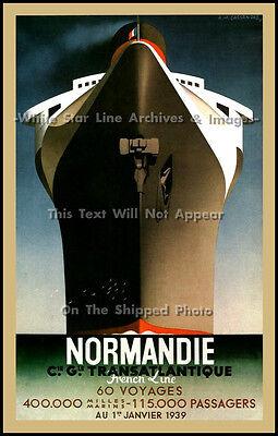 CASSANDRE PRINT: Super Liner Poster Art: The Normandie, A.M. Cassandre, 1939