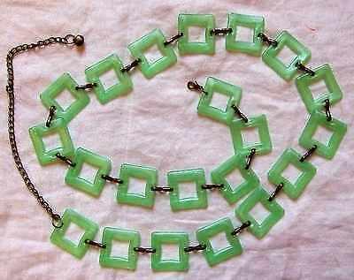 * Festival Divertimento Vintage 60s Stile Retrò Verde Lucite Quadrati Gogo Cintura Cool Chic-mostra Il Titolo Originale Sconto Complessivo Della Vendita 50-70%