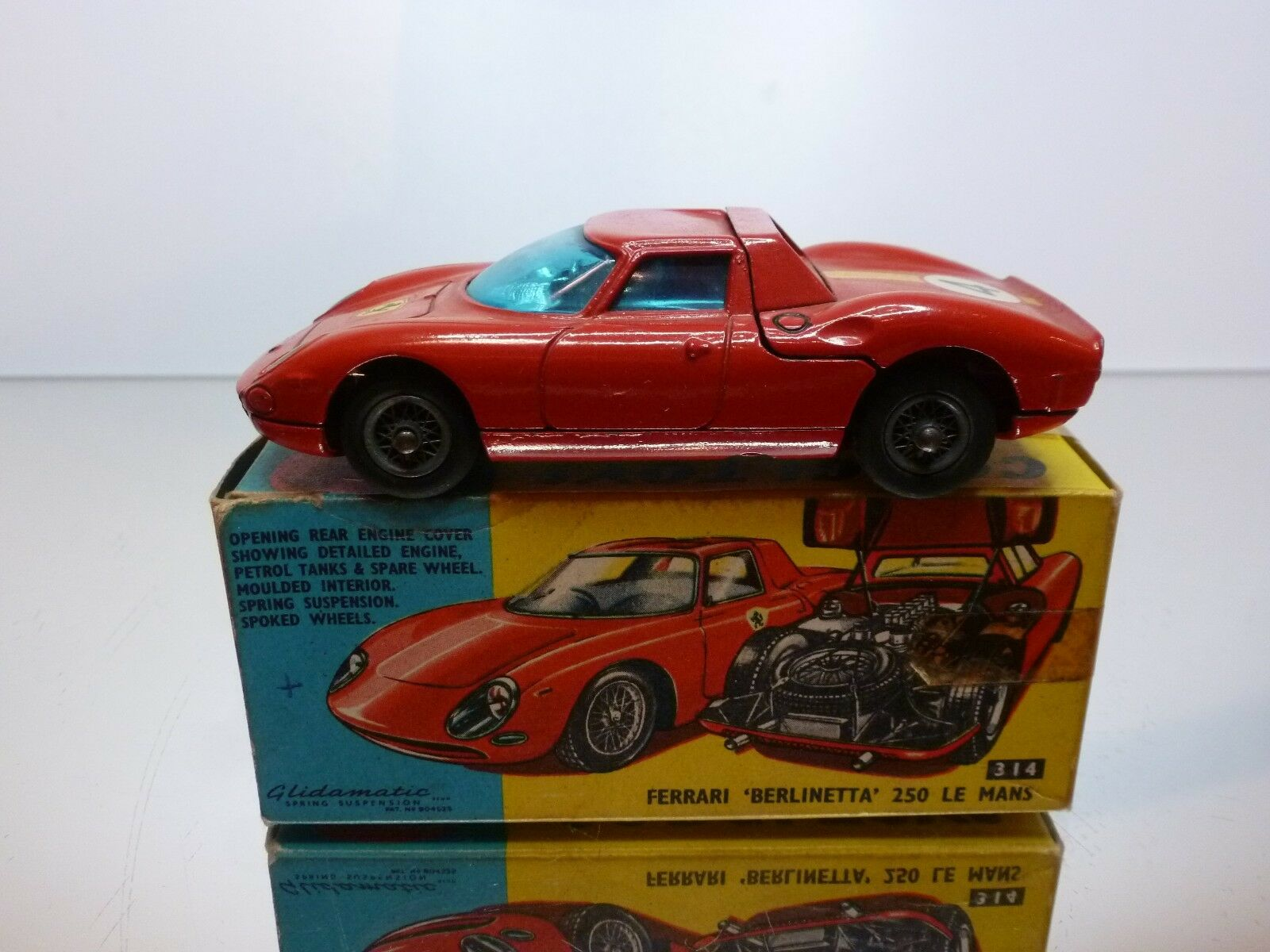 CORGI TOYS 314 FERRARI BERLINETTA 250 LE MANS - rouge 1 43 - VERY GOOD IN BOX