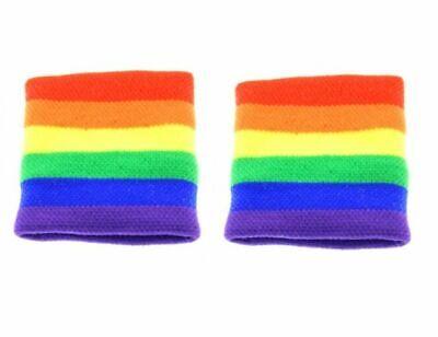 Acquista A Buon Mercato 2 X Adulto Unisex Gay Pride Rainbow Stripe Fasce Braccialetto Costume-mostra Il Titolo Originale