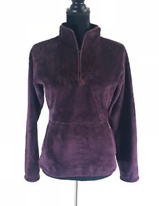 The-North-Face-Women-039-s-Purple-Mock-Neck-Zip-Fleece-Long-Sleeve-Jacket-Size-Small