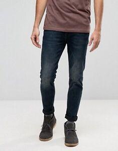 L 30 Jeans Bleu X Bleu 32l Délavé Taille Asos En Nwt Slim Hw5Hzv