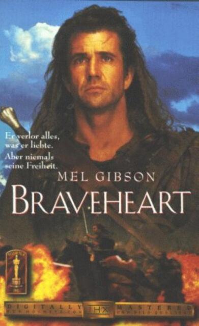 BRAVEHEART - VHS-VIDEO -  Mel Gibson, Sophie Marceau, Brendan Gleeson