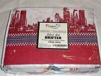 Primor Drifter City Skyline Twin Sheet Set Nip