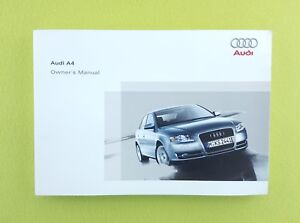 Details about AUDI A4 B7 (2005 - 2008) Owners Manual / Handbook