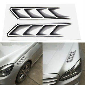 Shark-Gills-Waterproof-Vent-Air-Flow-Fender-Decor-Decals-Car-Stickers
