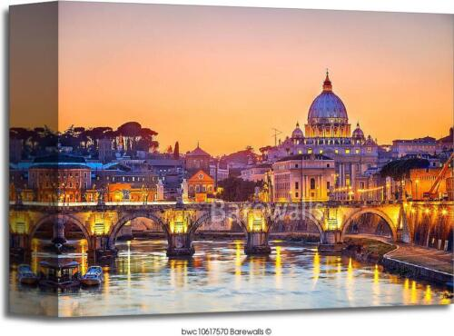 Rome Art Print Home Decor Wall Art Poster C Peter/'s Cathedral At Night St