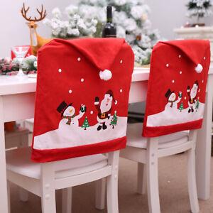 60cmx49cm-Navidad-Silla-Cubierta-Funda-Santa-Sombrero-Casa-Decoracion-Fiesta