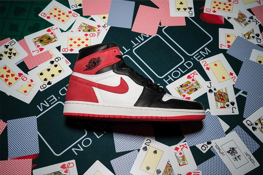 Nike Rojo Air Jordan 1 US Negro Rojo Nike pista raza rara DS 6a74e6