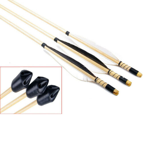 Archery Whistle Arrowheads Broad Hunting Points Tips Shaft 3 Pcs Set 12g Sports