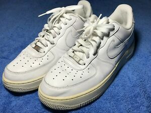 Details about Nike Air Force One Men's Low Top Basketball Casual Shoes Size  11 White