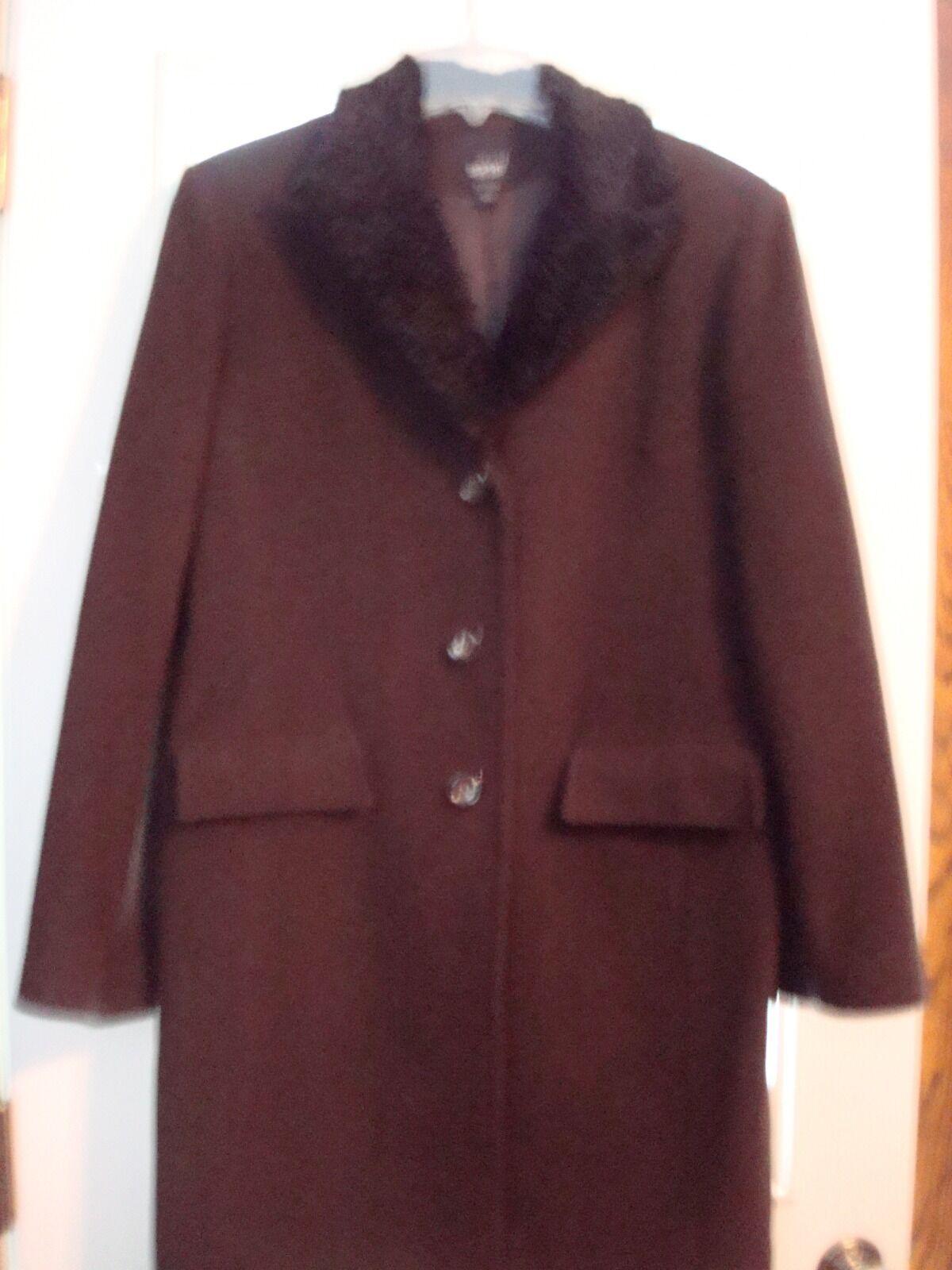 Ladies ESPRIT OUTERWEAR dress coat—brown L