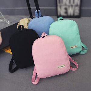 Womens-Ladies-Canvas-4-Colors-Shoulders-Bag-Backpack-for-School-Bags-Rucksack
