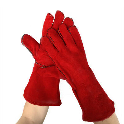Pair 16/'/' Heavy Duty Lined Reinforced Palm Welding Gauntlets Welder Labor Gloves