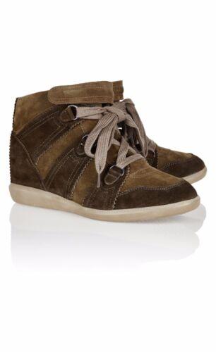 Scarpe Sneakers Uk Isabel Marant 7 Bluebel A ginnastica da Net zeppa Khaki Porter Baskets con qvIv0wr