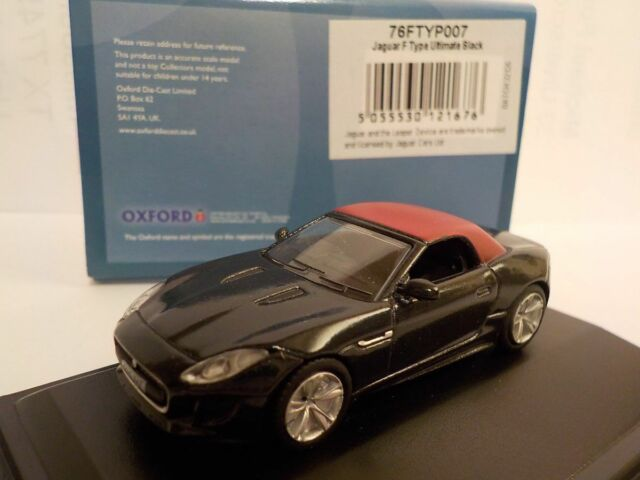 Jaguar F type, Black, Model Cars, Oxford Diecast