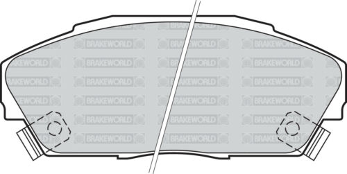 REAR DISCS AND PADS FOR HONDA CIVIC CRX 1.6 VTEC OEM SPEC FRONT EE8 1990-92