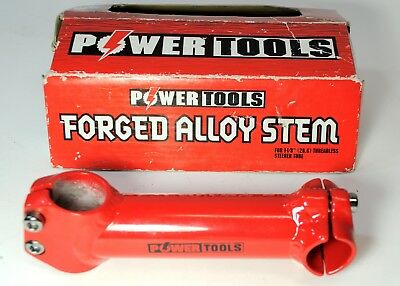 "Power tools forged alloy stem for 1 1//8/"" threadless steerer tube silver."