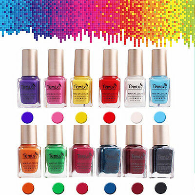 1Bottle 6ml Nail Art Template Stamping Stencil Polish Manicure Design Varnish