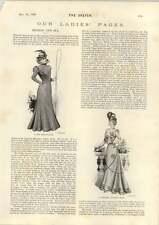 1898 Graceful Walking Dress New Driving Coat Hangings At Tyburn