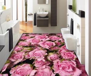 3D Bright Pink pinks 90 Floor Wall Paper Murals Wall Print AJ WALLPAPER UK Lemon