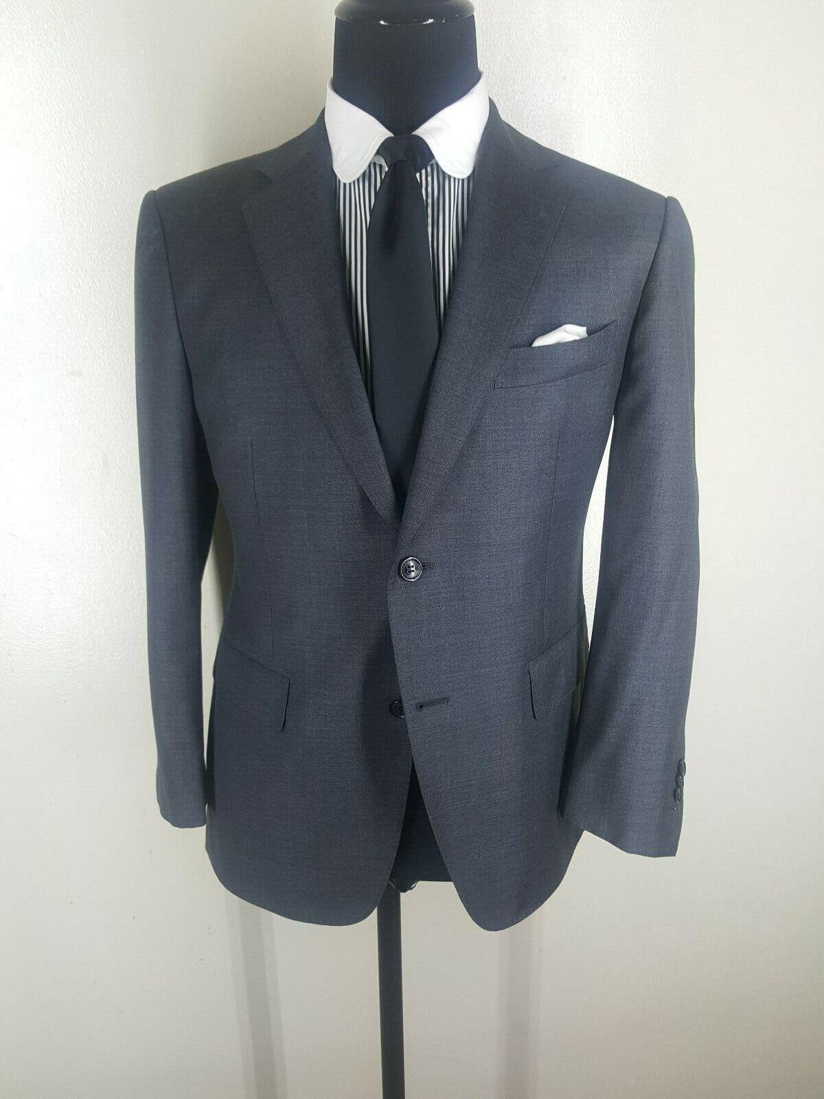 SUIT SUPPLY Super 110'S Wool Sport Coat 2 Btn Side Vents  42 Short