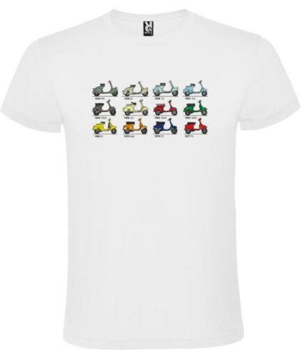 T-Shirt Vespa Weiß Mann Größe S M L XL 100/% Baumwolle Ärmel Kurz
