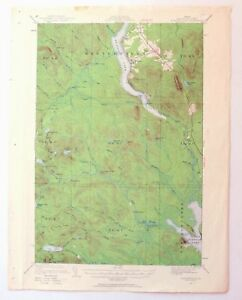 Topo Map Of Maine.1928 Winterville Maine Vintage Original 15 Minute Usgs Topographic