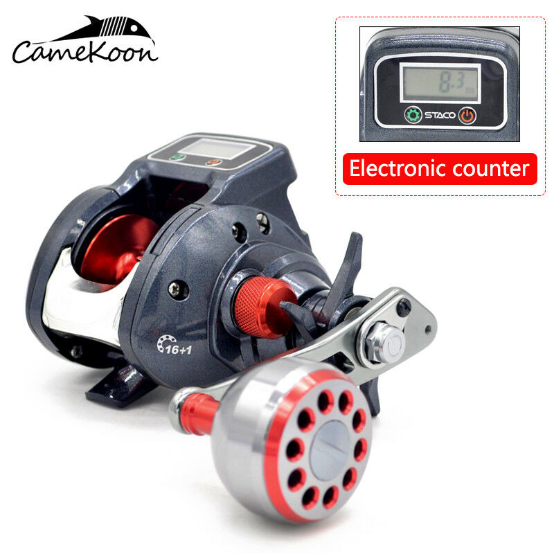 CAMEKOON Baitcasting Fishing Reels 6.3 1 Gear Ratio With Line Counter Baitcaster