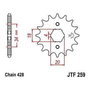 Front Sprocket 16 Tooth Pitch 428 For Honda CB 100 1971 - 1985