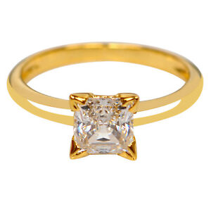 14KT Solid Yellow Gold 1.25 Carat Fantastic Round Shape Solitaire Women/'s Ring