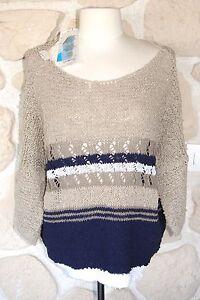 Maglione blu 40 119 nuova € marrone corona e etichettati bianco marca taglia rosa e 55wrqaY