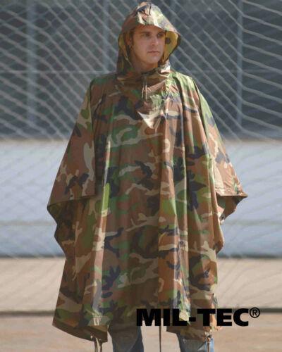 Mil-Tec PONCHO R//S WOODLAND Regen-/& Outdoorjacke Jacke