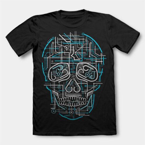 Electric Skull Mashup navire DTG Hommes T Shirt Tees