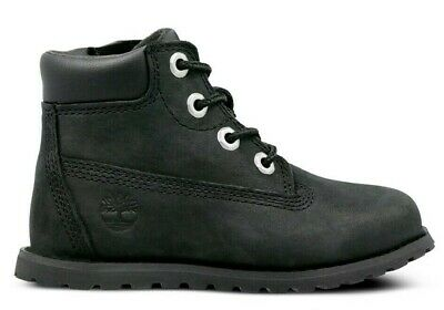 TODDLERS TIMBERLAND POKEY PINE 6 INCH BLACK BOOT A1PJT