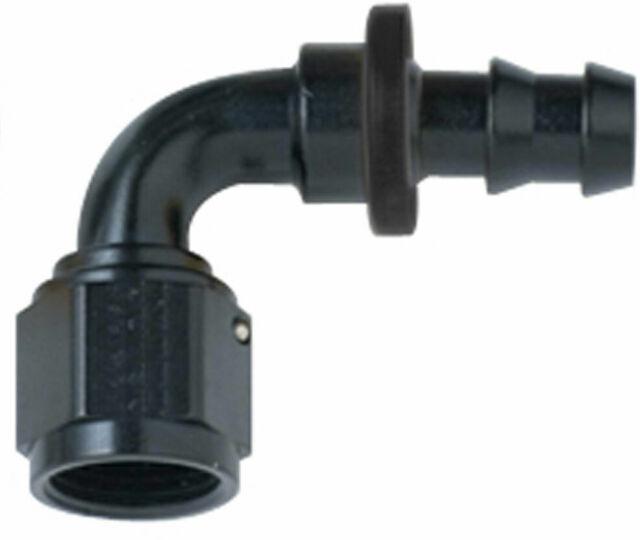 6AN 90 Degree Push Lock Hose Fitting Fuel Hose End 5//16 Black