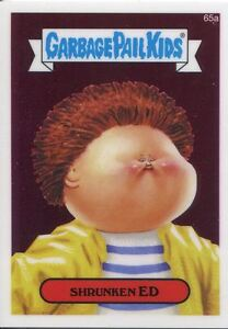 Garbage Pail Kids Chrome Series 2 Base Card 65a SHRUNKEN ED