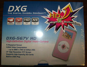 DXG-5-0-MP-HD-Camcorder-with-2-inch-Hi-Res-LCD-and-2x-Zoom-Pink-DXG567V