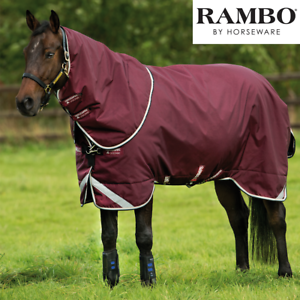 Horseware Rambo Duo Turnout Rug with 300g & 100g Liners and Detachable Hood