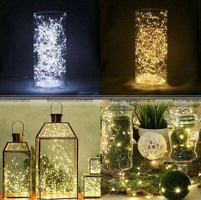 3 Sets 20 LED String Fairy Lights Warm White Wedding Mason Jar Decor