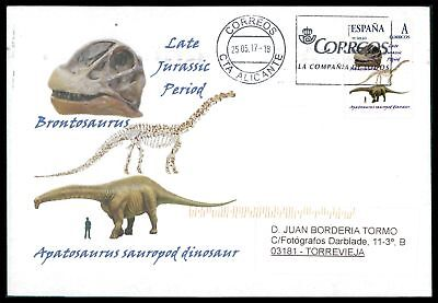 Spain Dinosaur Dinosaure Dinosaurier - Custom Stamp - Only 5 Cover Made! Cm46 Professionelles Design