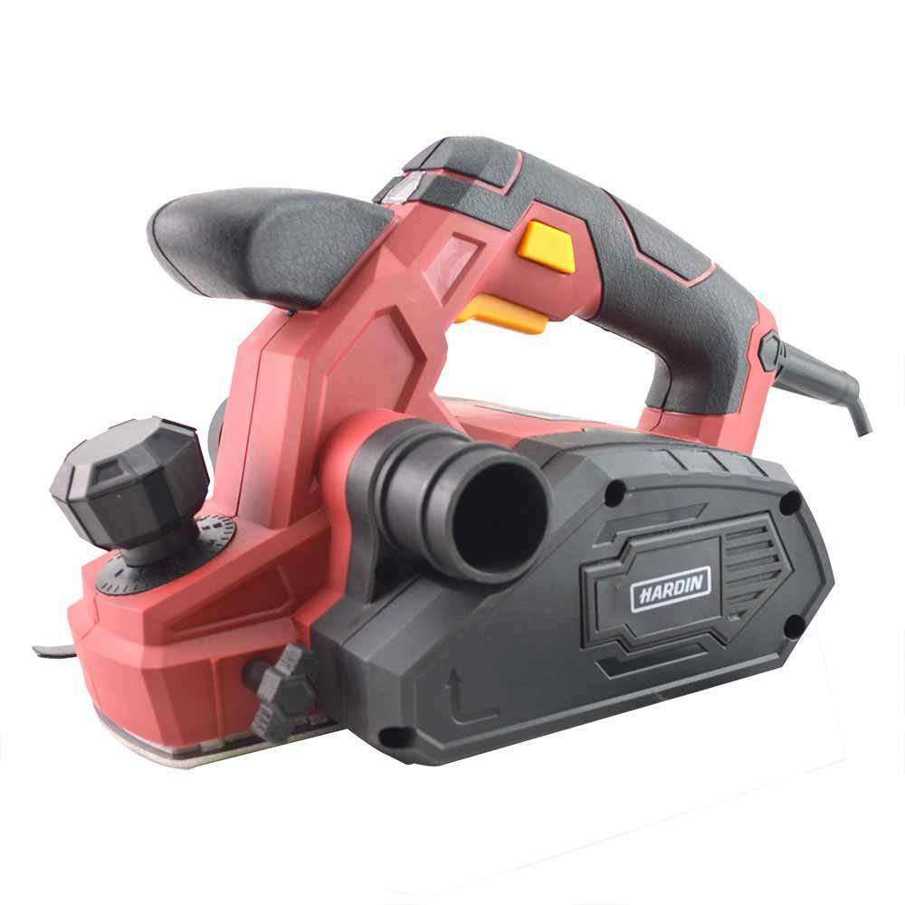 Hardin HD-680P 3-1 4 in. 7.5 Amp Heavy Duty Electric Planer with Dust Bag