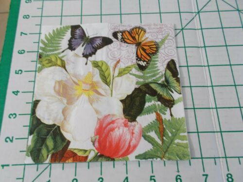 "Two Decorative Luncheon Napkins for Decoupage /""Magnolia/"""