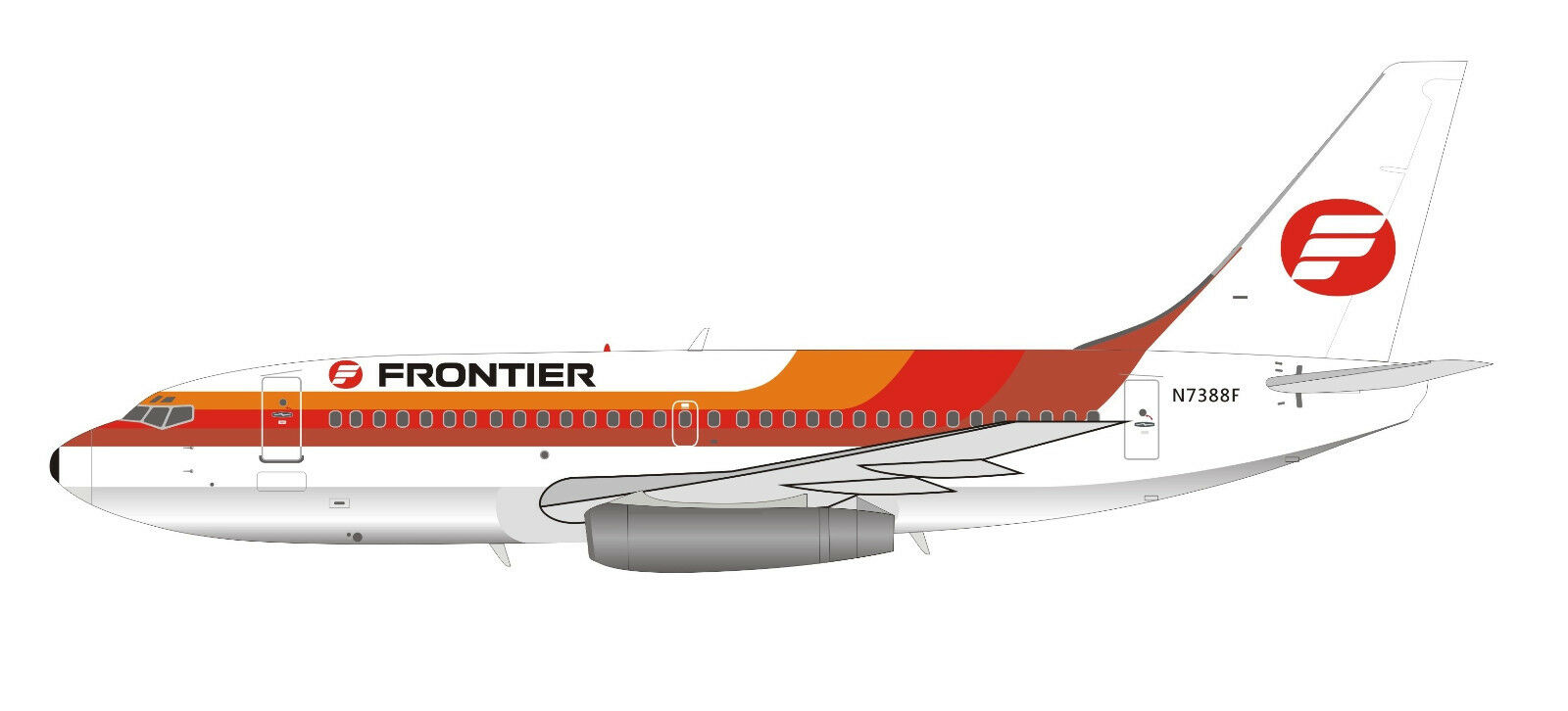 Inflight 200 IF732F90818 1/200 Frontiera Airlines Boeing 737-200 N7388f W/ W/ W/ Stand f89d0c