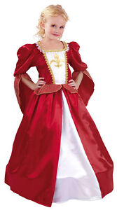 Tudor-Red-White-Princess-Queen-Fairytale-Dress-Hoop-Costume-Outfit-New-4-6-8-10