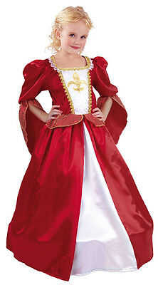 Tudor Red White Princess Queen Fairytale Dress Hoop Costume Outfit New 4 6 8 10