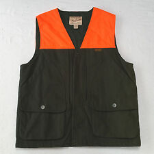 Vintage Woolrich Green Blaze Orange Hunting Vest Mens Large