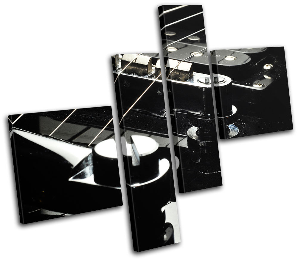 Elecric Guitar Musical MULTI Leinwand Wand Kunst Bild drucken